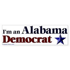Alabama Democrat Bumper Bumper Sticker