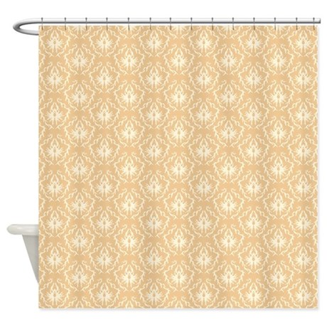 Beige Damask Pattern. Shower Curtain