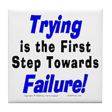 Trying/Failure! Tile Coaster