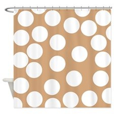 Dot Pattern, Brown. Shower Curtain