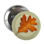 "White Oak Leaf 2.25"" Button (10 pack)"