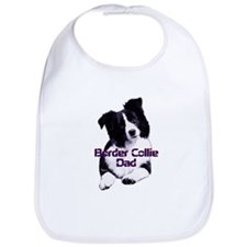 border collie dad Bib