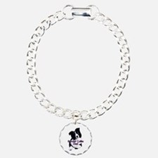border collie dad Charm Bracelet, One Charm
