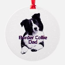 border collie dad Ornament