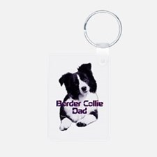 border collie dad Aluminum Photo Keychain