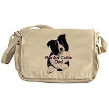 border collie dad Messenger Bag