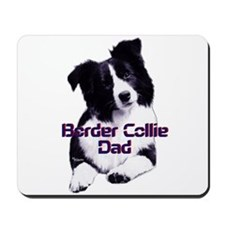 border collie dad Mousepad