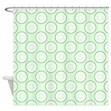 Cucumber Slice Pattern. Shower Curtain