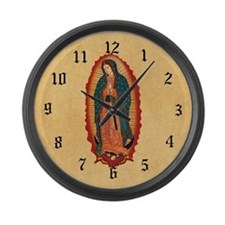 Virgin Of Guadalupe Large Wall Clock