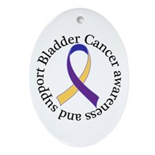 Bladder Cancer Awareness Support Ornament (Oval)