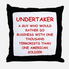UNDERTAKER Throw Pillow