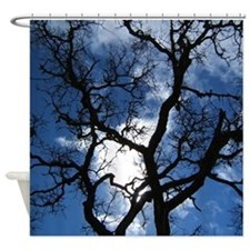 Crazy Tree Silhouette Shower Curtain