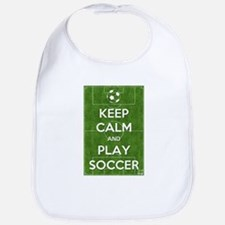 Keep Calm and Play Soccer Bib