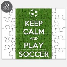 Keep Calm and Play Soccer Puzzle