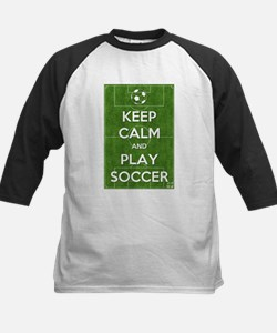 Keep Calm and Play Soccer Baseball Jersey