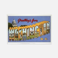 Washington DC Greetings Rectangle Magnet