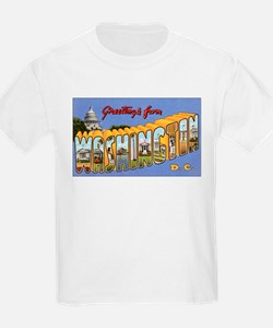 Washington DC Greetings (Front) Kids T-Shirt