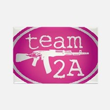 team 2A chick Rectangle Magnet