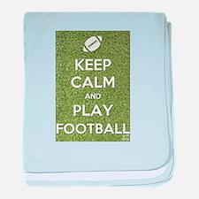 Keep Calm and Play Football baby blanket