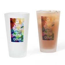 Keep Calm and Insta Gram Drinking Glass