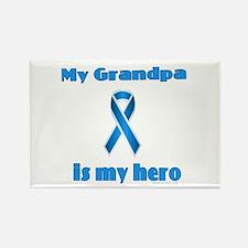 Grandpa is my hero(blue ribbon) Rectangle Magnet