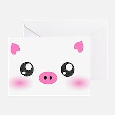 Cute Pig Greeting Card