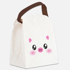 Cute Pig Canvas Lunch Bag