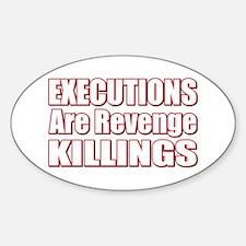 Revenge Killings Oval Decal