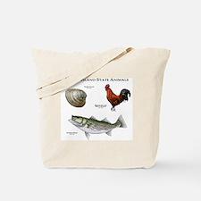 Rhode Island State Animals Tote Bag