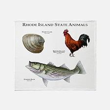 Rhode Island State Animals Throw Blanket