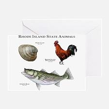 Rhode Island State Animals Greeting Card
