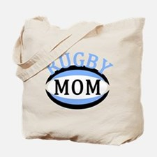 Proud Rugby Mom Light Blue Tote Bag