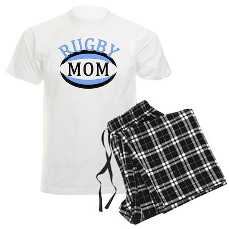 Proud Rugby Mom Light Blue Pajamas