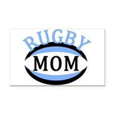 Proud Rugby Mom Light Blue Rectangle Car Magnet
