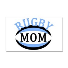 Proud Rugby Mom Light Blue Car Magnet 20 x 12