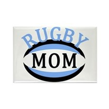 Proud Rugby Mom Light Blue Rectangle Magnet