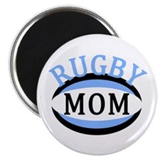 """Proud Rugby Mom Light Blue 2.25"""" Magnet (100 pack)"""