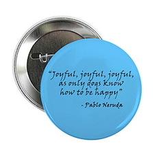 """Joyful! Text 2.25"""" Button (10 pack)"""