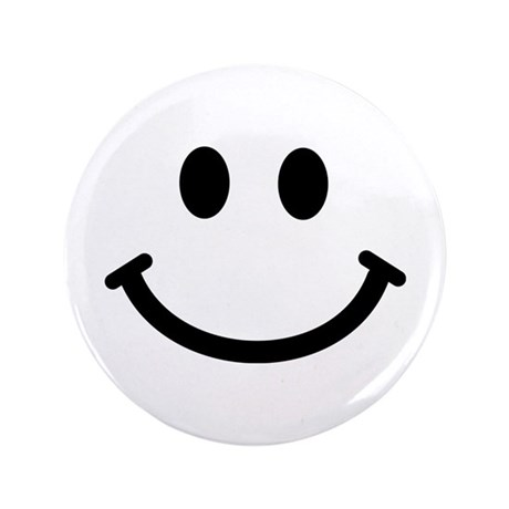 """Smiley face 3.5"""" Button"""