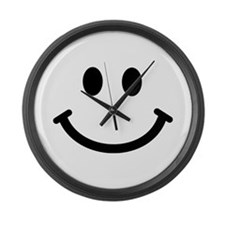 Smiley face Large Wall Clock