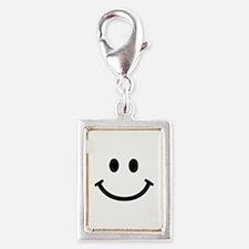 Smiley face Silver Portrait Charm