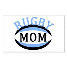 Proud Rugby Mom Light Blue Decal