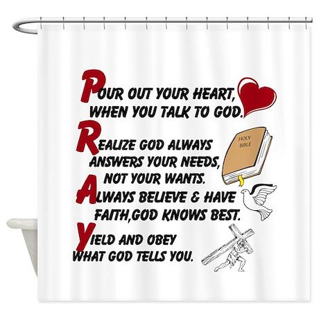 Pray/ Shower Curtain