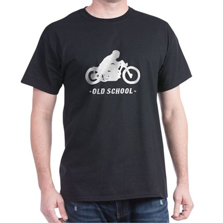 Old School Motorcycle (male) Dark T-Shirt
