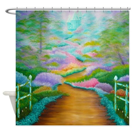 Fantasy shower curtain by krs creations for Fantasy shower curtains