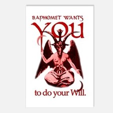 Baphomet Wants You Postcards (white - 8 pack)