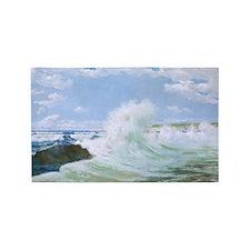Stormy Ocean 3'x5' Area Rug