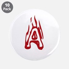 """Burning Monogram A 3.5"""" Button (10 pack)"""