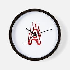 Burning Monogram A Wall Clock