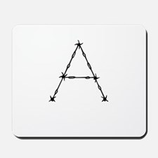 Barbed Wire Monogram A Mousepad